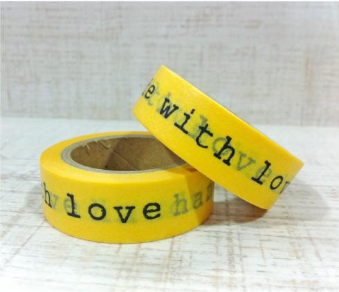Washi Tape handmade with love Kitiki shop