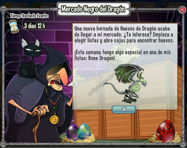 imagen del dragon huesudo o dragon boned en el mercado negro del dragon