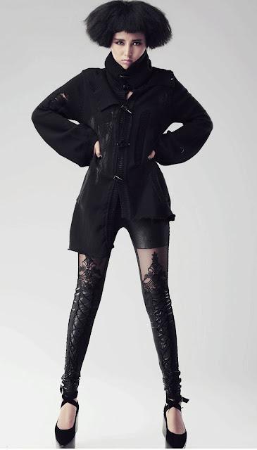 Black Cyber Punk Pants for Women