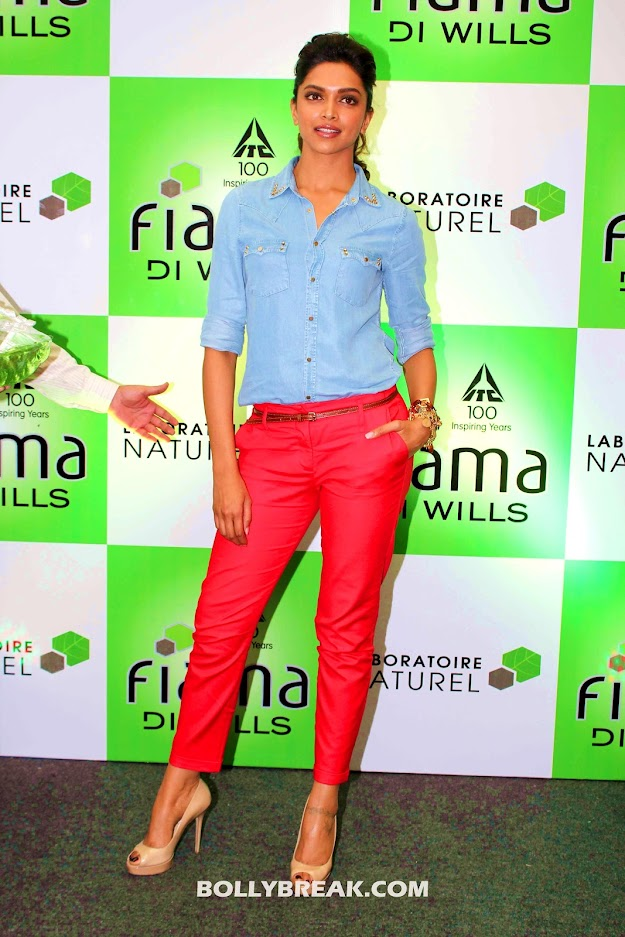 Deepika Padukone Red pants photos