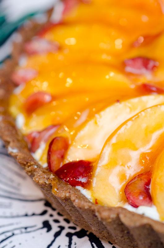 Sugar & Spice by Celeste: Fresh Cherry & Peach Tart