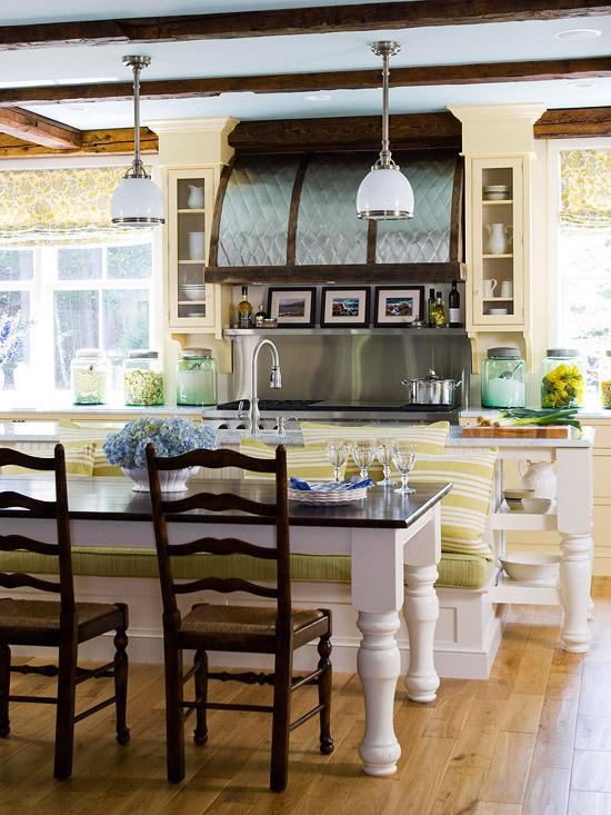hydrangea hill cottage: eat in kitchens
