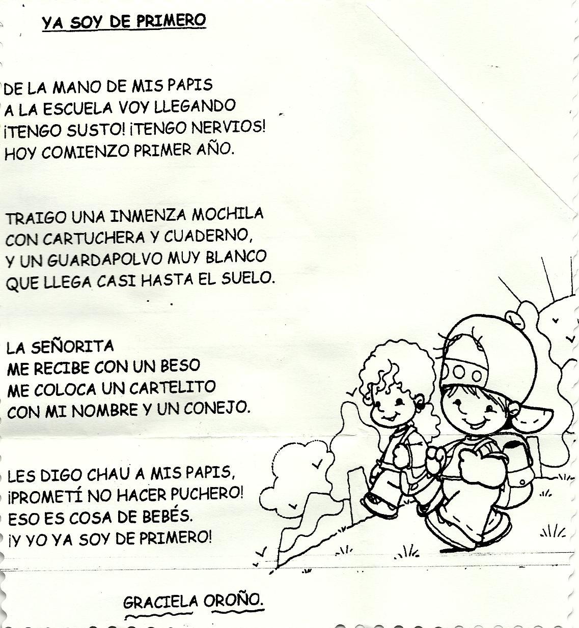 Poemas Para Padres De Escuela Primer DIA