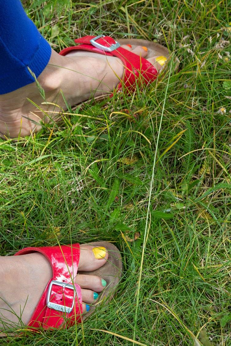 rainbow toenails
