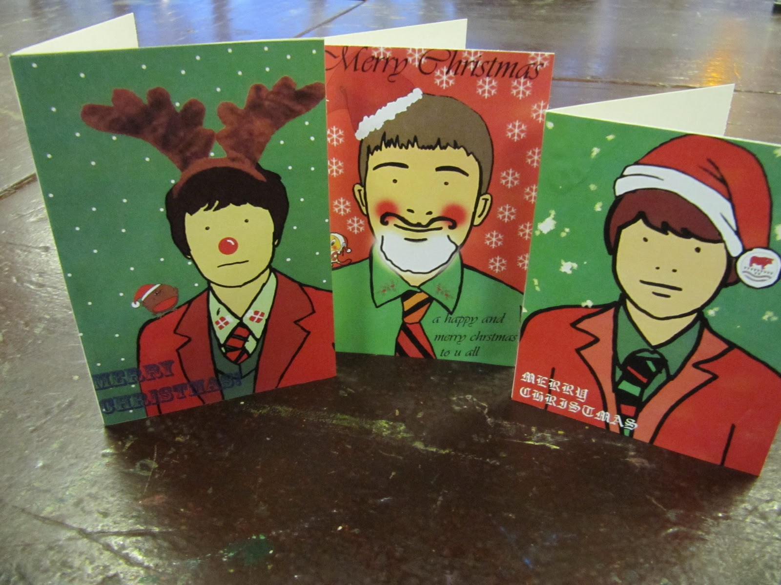 KS3 Boys Art Club - Julian Opie Christmas Cards | Bulmershe School ...
