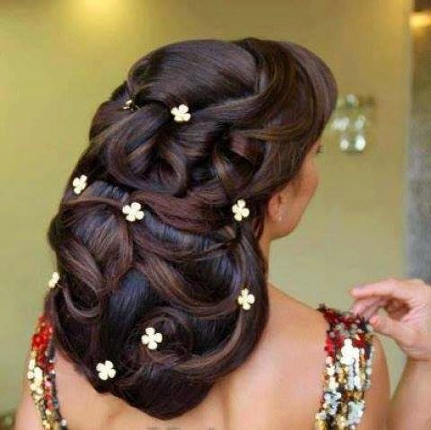 Awe Inspiring Indian Brides Hairstyles 2014 2015 Chal Abay Hairstyle Inspiration Daily Dogsangcom