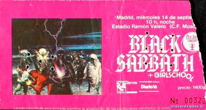 entrada de concierto de black sabbath