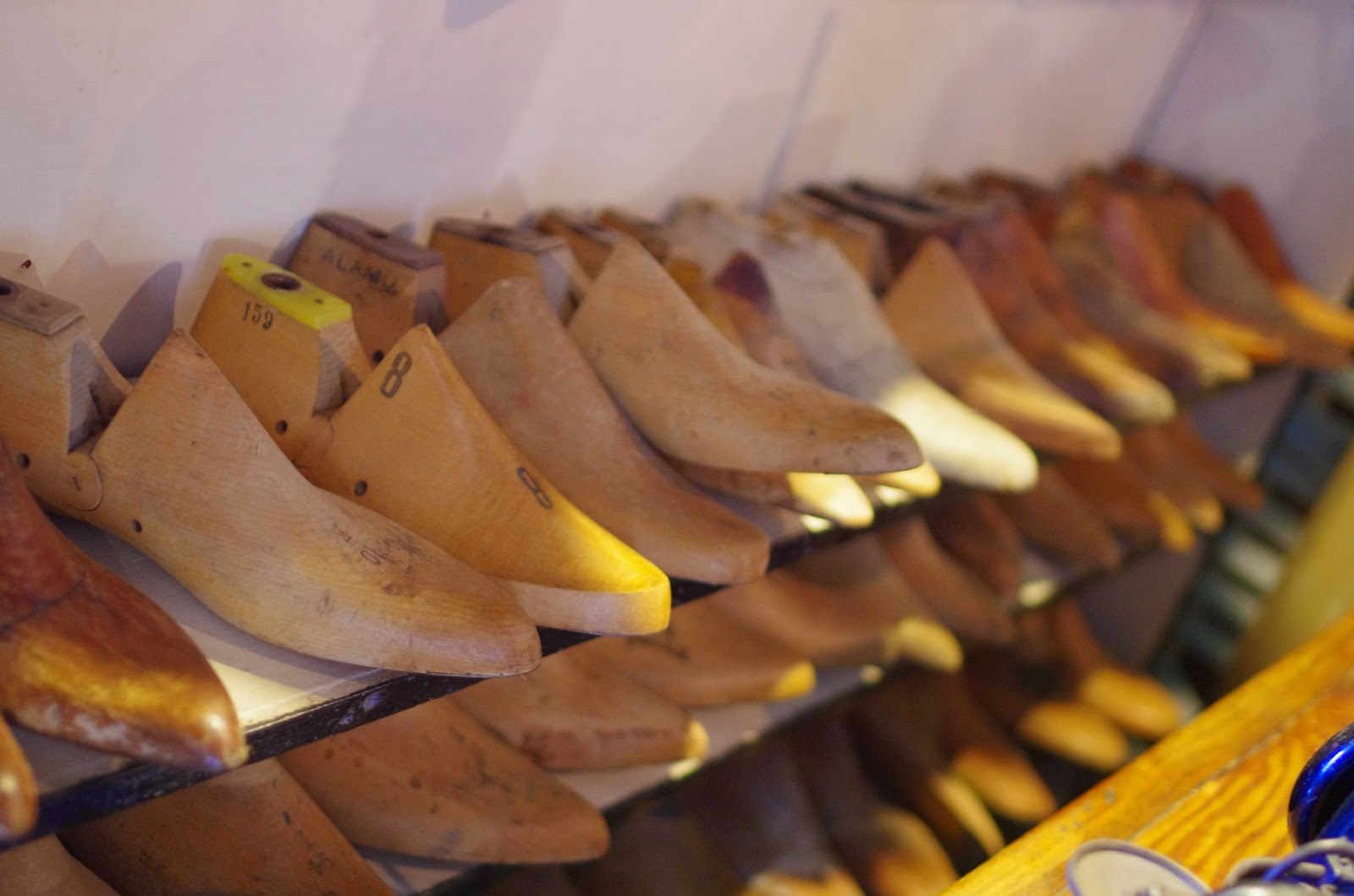 Photograph of shoes on rack