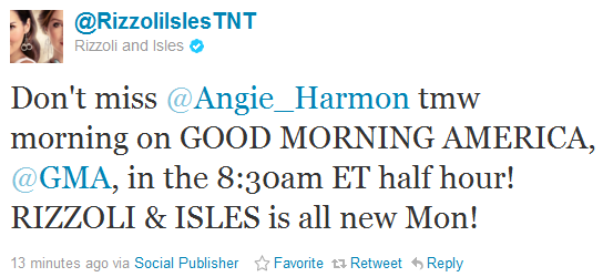 Good Morning America Tomorrow : Absolutely angie harmon catch on quot good