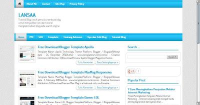 Template Valid HTML5 dan Seo Friendly
