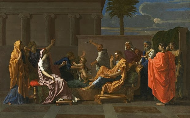 Nicolas Poussin - The Infant Moses trampling Pharaoh's Crown,.