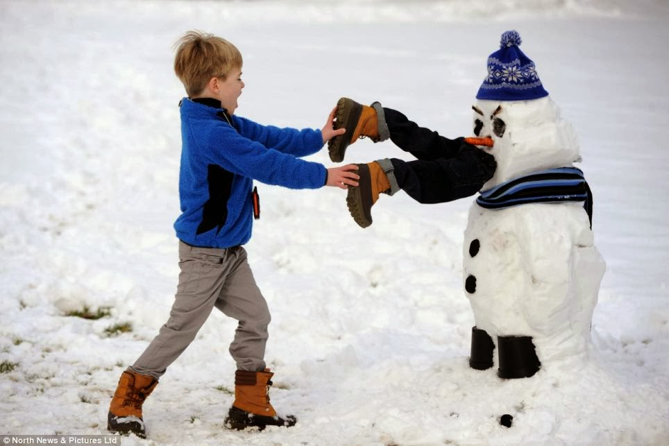 A very hungry snowman.
