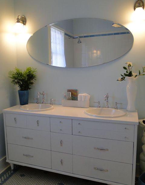 salvaged bathroom vanities