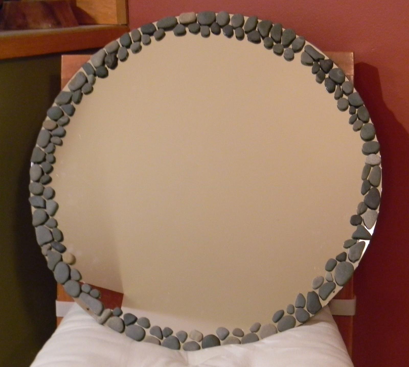 How to make a decorative mirror - Using Beach Pebbles To Create A Diy Decorative Mirror