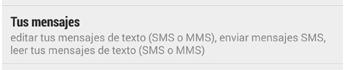 Acceso a tus SMS aplicación android.