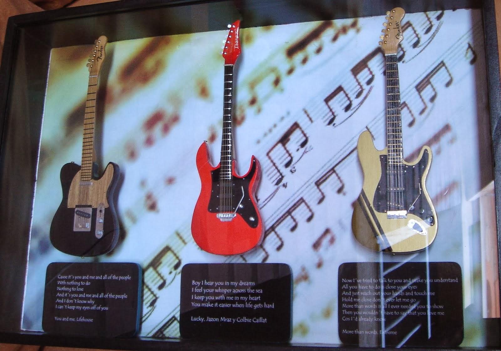 Cuadros guitarras