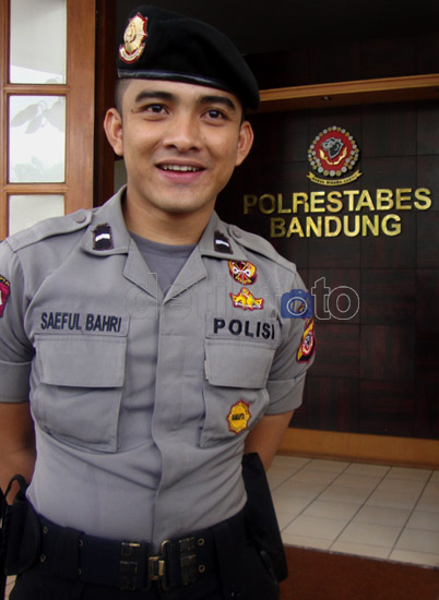 saeful bahri, polisi ganteng