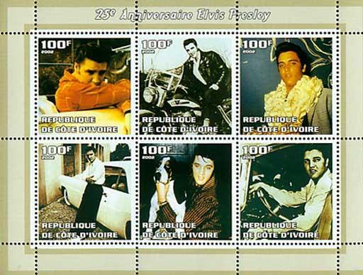 2002年コートジボアール共和国 グラン・ガスコン・サントンジョワの切手シート