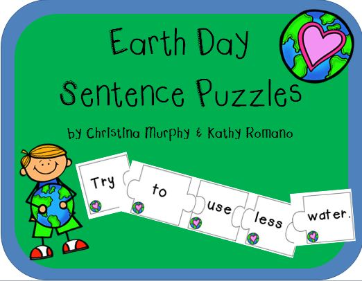 http://www.teacherspayteachers.com/Product/Earth-Day-Sentence-Puzzles-635167