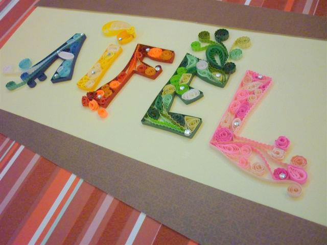 aifel scrap n quilled aifel quilled name. Black Bedroom Furniture Sets. Home Design Ideas