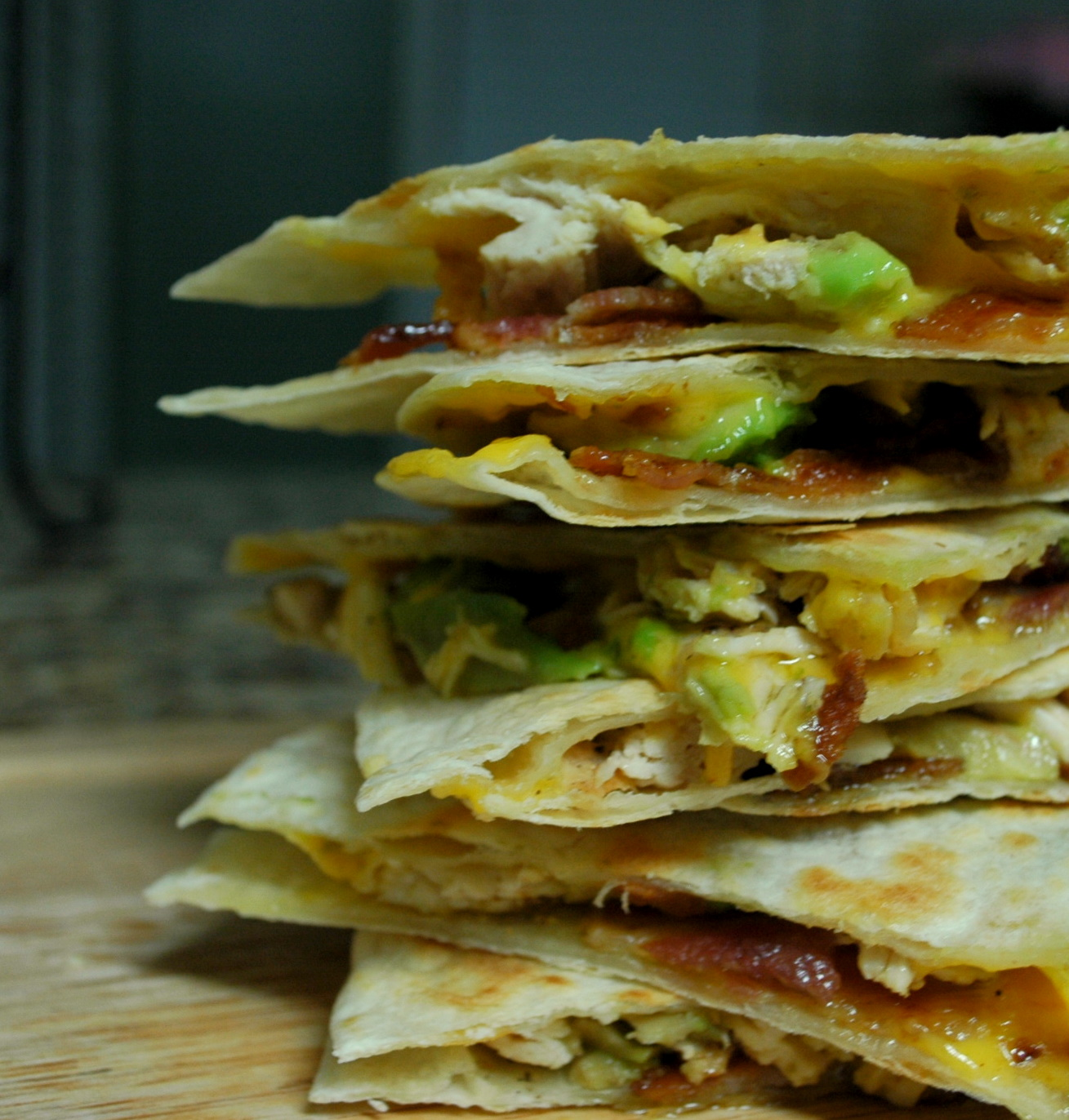 Good Thymes and Good Food: Chicken Bacon Avocado Quesadillas