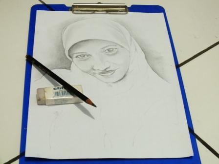 cara sket wajah dengan corel draw