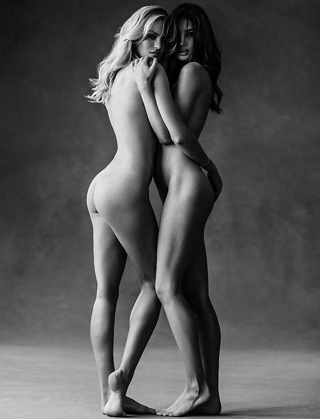 Los ángeles Candice Swanepoel y Lily Aldridge desnudas