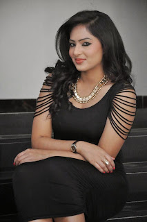 Actress Nikesha Patel Latest  Pictures in Black Short Dress  32