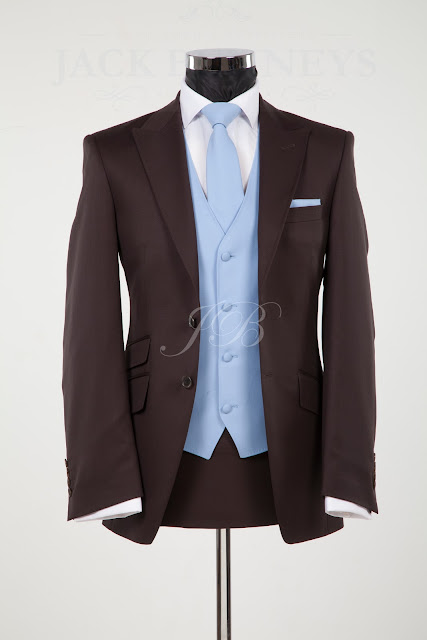brown wedding suit, vintage wedding suit hire, lounge suit hire chocolate brown wedding suit