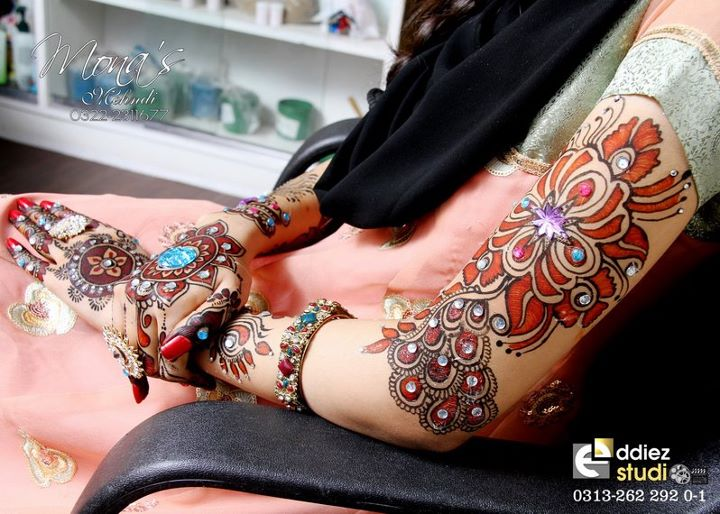 BridalmehndiwwwShe9blogspotcom2528182529 - Embroidered Mehndi