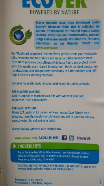 Ecover Natural Delicate Wash: описание и состав