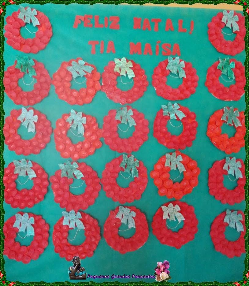 Pequenos grandes pensantes murais de natal for Mural de natal 4 ano