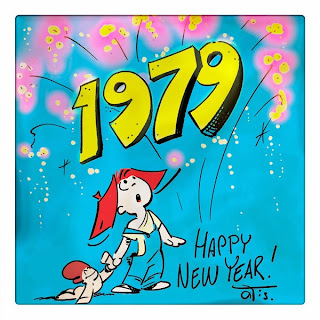 Happy New Year With Frank and His Friend - by Curio & Co. www.curioandco.com. - illustration by Cesare Asaro under pseudonym Clarence 'Otis' Dooley