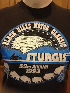 1993 3D EMBLEM - STURGIS 80s vintage t-shirt soft M 53rd Annual