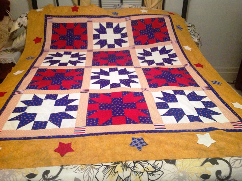 Quilt of Valor Quilt Finished with Quiltsmart Star Struck ZigZapps! Border
