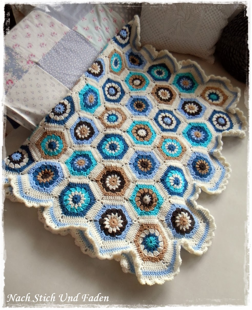 Freebook: Hexagon-Grannydecke