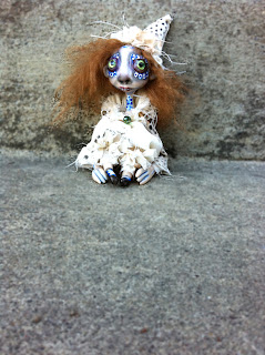 clown circus goth art doll ghost