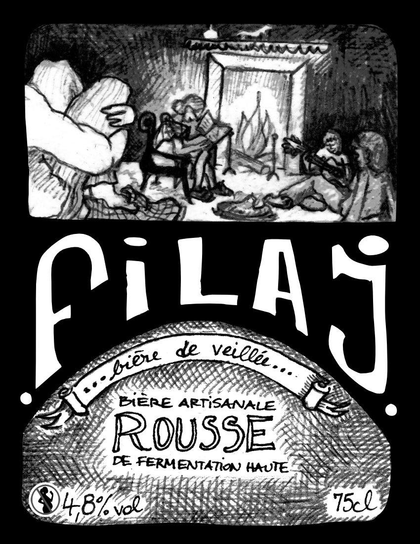 Bière La Filaj  Rousse de veillée 4.8% 75 cL
