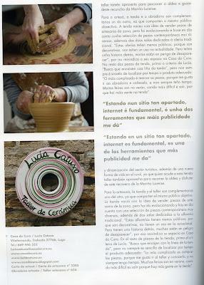 Ceramica Lucia Catuxo. Trabajando al torno de alfarero.