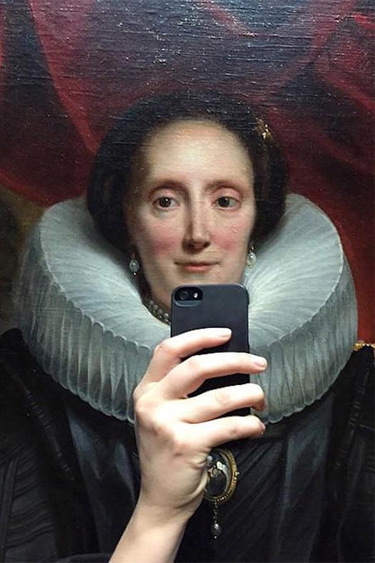 Esta mujer hizo que las antiguas pinturas de museo se tomaran selfies