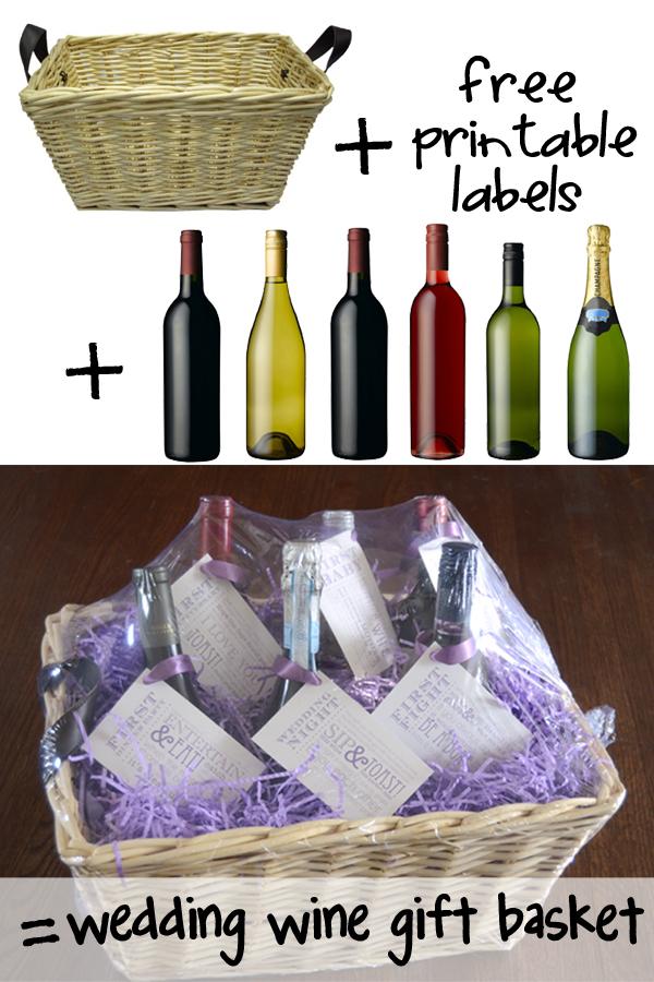 Wedding Gift List Wine : Wedding Shower Wine Gift Basket