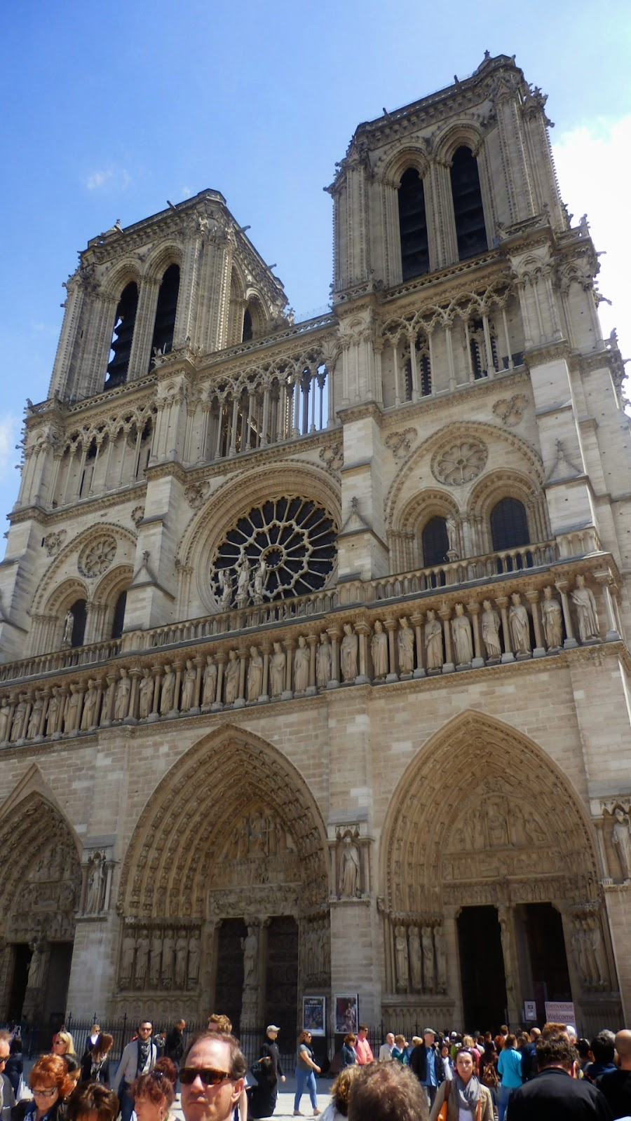 Photo taken outside the Notre Dame Paris