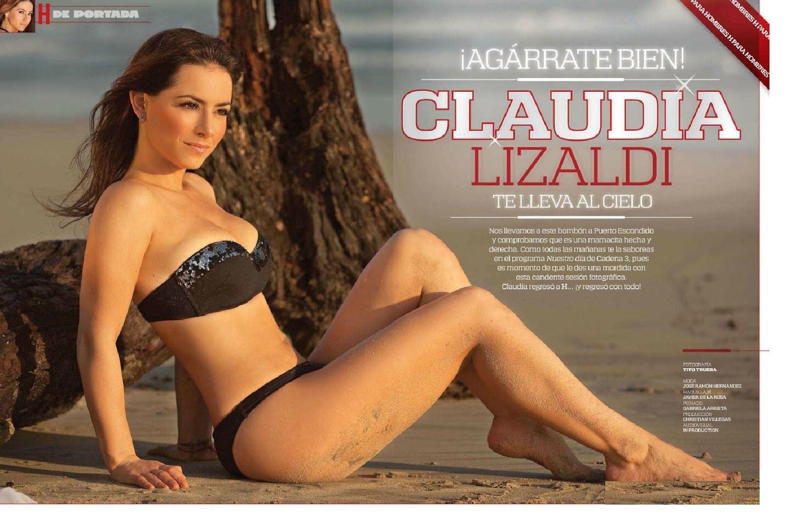 Para Hombres Esta Claudia Lizaldi En Ropa Interior Y Semi Desnuda