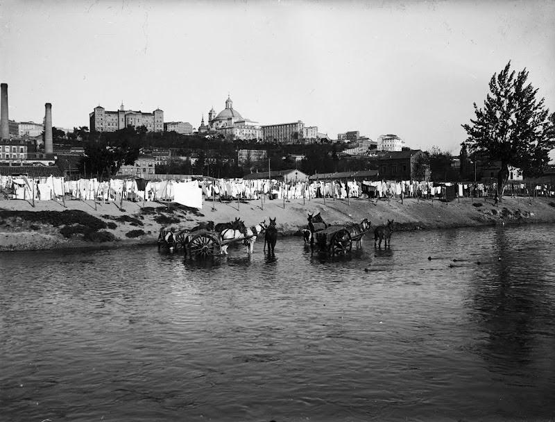 Excavadores en el Río Manzanares 1910, Madrid