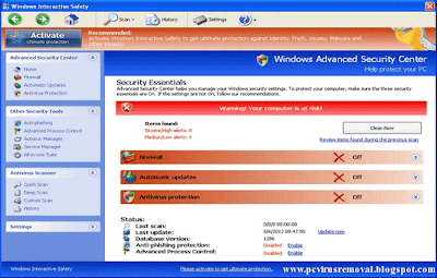 Windows Interactive Safety Virus Removal instructions