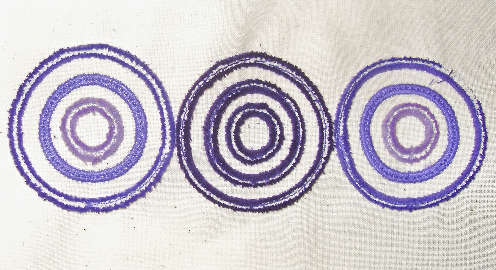 Embroidery journal satin stitch circles