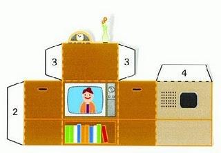 O mundo colorido recortar dobrar e montar uma televis o for Cocinas integrales armables