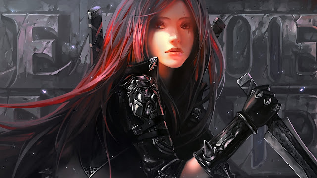 Katarina artwork league of legends HD Wallpaper