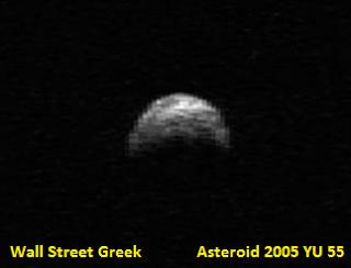 asteroid 2005 YU55 November 8