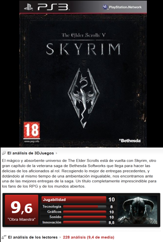 The Elder Scrolls V: Skyrim [Esp/Ingles][3.55][PS3]